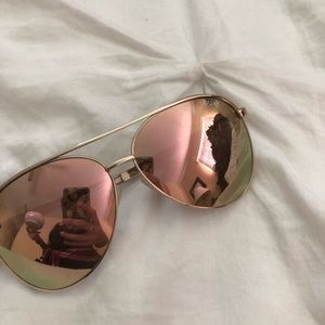 Rose Gold Quay Aviators